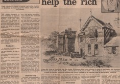 Broom Hall and the Enclosure Act: A newspaper story from 1982