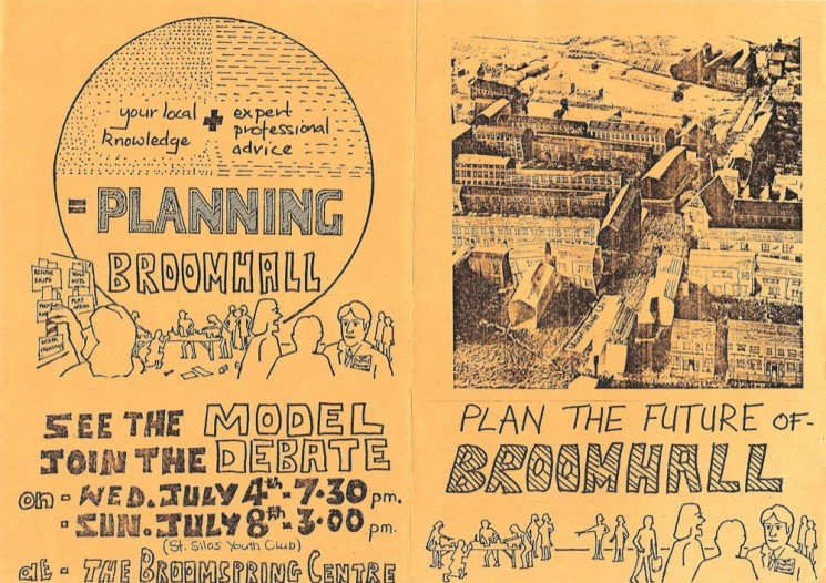 Planning Broomhall Leaflet: front and back covers. 1979 | Image: Mike Fitter