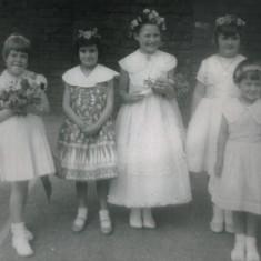 Andrea Sawdon (centre): May Queen, 1960 | Photo: Andrea Lee