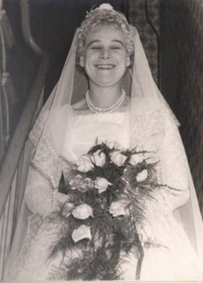 Barbara Colliver on her wedding day, 1961 | Photo: Barbara and Geoffrey Colliver