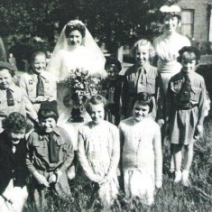 Brownie Group in the grounds at Hanover Church. c.1960 | Photo: Maureen Giddings