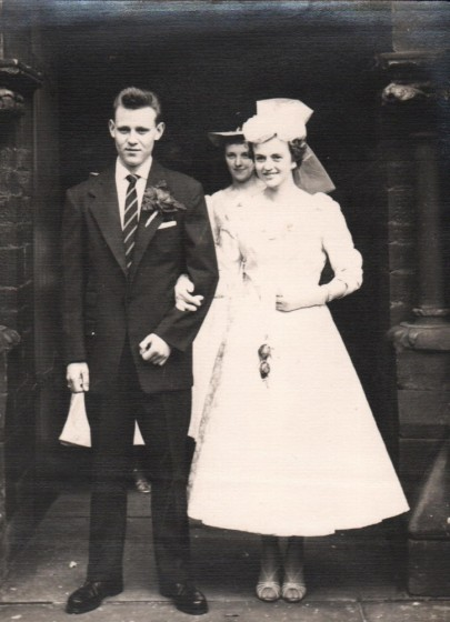 Marriage of Pat Higgins and Terry Wetherill, St Silas Church. 2nd September 1956
