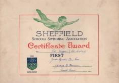 Swimming certificate: 1948