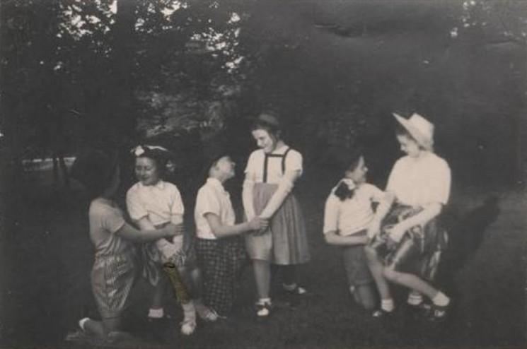 Sylvia Barnes (nee Cartledge) at Doreen Moore's Dance School, 1955 | Photo: Sylvia Barnes