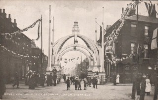'Broomhall Arch': constructed for the Royal Visit to Sheffield on 12th July, 1905 | Photo: OUR Broomhall