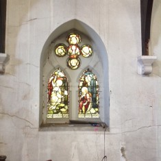 Stained glass window, St Silas Church. 2013 | Photo: Sue Lancaster