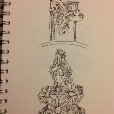 Sketch of wood carvings, St Silas Church by Sue Lancaster. 2013 | Photo: Sue Lancaster