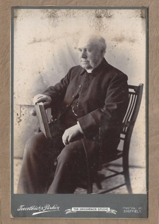 Reverend Henry Henton Wright, vicar of St Silas Church. 1890s