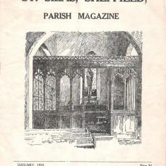 St Silas Parish Magazine: Front Cover. January 1955 | Image: Pat Collins