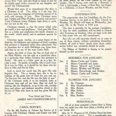 St Silas Parish Magazine: Page 3. January 1955 | Image: Pat Collins