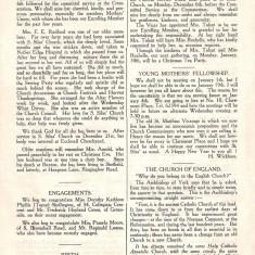 St Silas Parish Magazine: Page 4. January 1955 | Image: Pat Collins