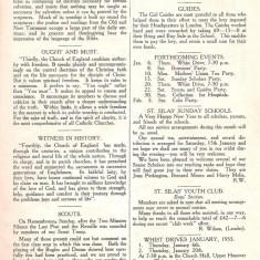 St Silas Parish Magazine: Page 5. January 1955 | Image: Pat Collins