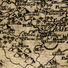 1607 West Riding of Yorkshire Map by Christopher Saxton and William Hole | Map: SALS