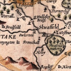 1610 West Riding of Yorkshire Map by John Speede | Map: SALS