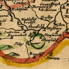 1673 West Riding of Yorkshire Map with its Wapentakes by Richard Blome | Map: SALS