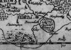 Historical Maps of Broomhall ~ 1607 - 1873