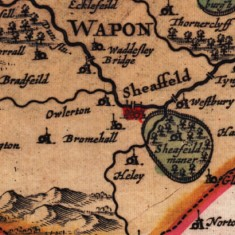 1724 West Riding of Yorkshire Map by Gerard Valk and Petrus Schenk | Map: SALS