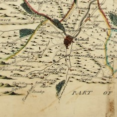 1750 West Riding Yorkshire (southern part) by Joseph Dickinson | Map: SALS