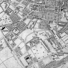 1838 Sheffield Map published with White's History and Directory of Yorkshire   Map: SALS