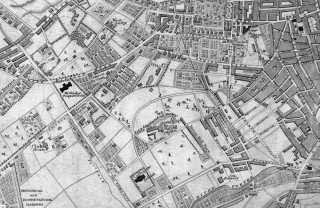 1838 Sheffield Map published with White's History and Directory of Yorkshire | Map: SALS
