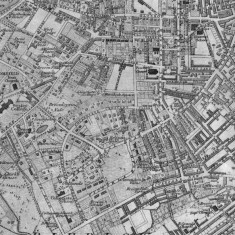 1863 Sheffield Map based on the 1850 Ordnance Survey, with revisions to 1863 | Map: SALS