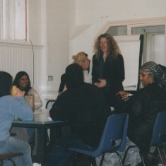 ESOL (Engilsh for Speakers of Other Lanuguages) class at the Broomhall Centre, 1990s | Photo: Broomhall Centre