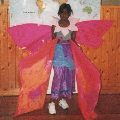 Young girl in butterfly costume for Broomhall Carnival. 1993 | Photo: Broomhall Centre