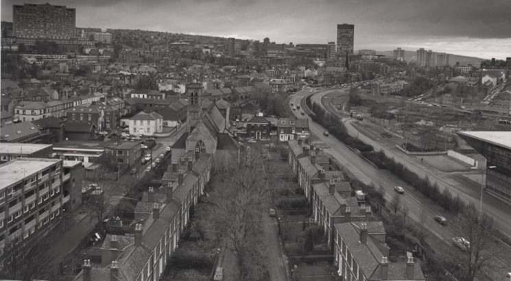 View from Hanover flats, 1992 | Photo: Broomhall Centre