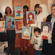 Painting workshop, Women's Day, 22 March 1995 | Photo: Broomhall Centre
