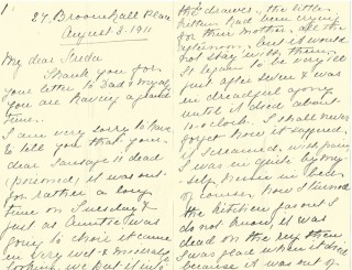 Dickinson letter 2: 3 August 1911. Page 1 | Photo: Judith Gaillac