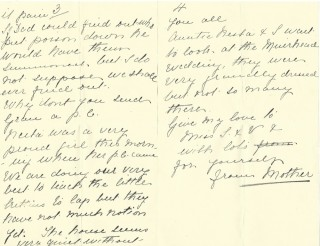 Dickinson letter 2: 3 August 1911. Page 2 | Photo: Judith Gaillac