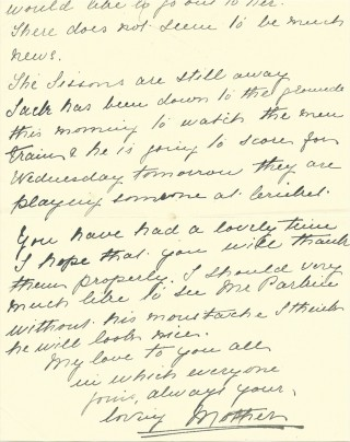 Dickinson letter 4: 15th August 1911. Page 2 | Photo: Judith Gaillac