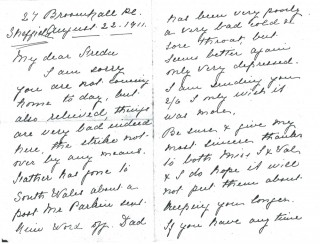 Dickinson letter 5: 22nd August 1911. Page 1 | Photo: Judith Gaillac