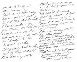 Dickinson letter 6: 24th August 1911. Page 2 | Photo: Judith Gaillac