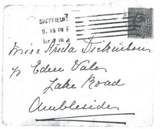 Dickinson letter 7: 6th September 1911. Envelope | Photo: Judith Gaillac