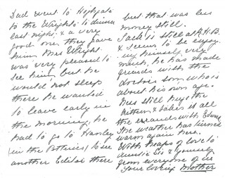 Dickinson letter 7: 6th September 1911. Page 2 | Photo: Judith Gaillac