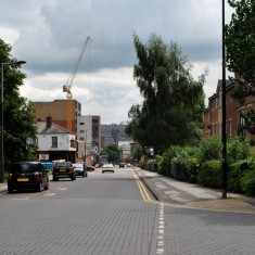 Fitzwilliam Street (2014): site of the 1905 'Broomhall Arch' for the Royal Visit | Photo: OUR Broomhall