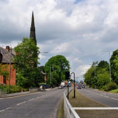 Hanover Way with St Andrew's Church spire, 2014 | Photo: OUR Broomhall