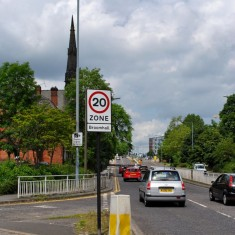 Junction of Broomspring Lane and Hanover Way, 2014 | Photo: OUR Broomhall