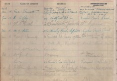 St Andrew's Church Visitor Book: 1948-1955
