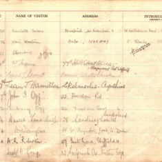 St Andrew's Church Visitor Book: 1948-1955 | Photo: St Andrews URC Church