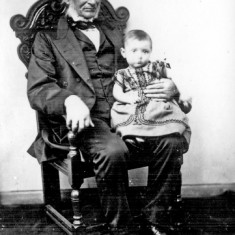Thomas Hayball with Grandchild Clara Hayball, 1851 | Photo: SALS PSy00540