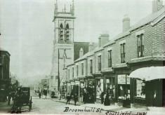 Baratt's Watchmaker's shop, Broomhall Street and a St Silas choir boy
