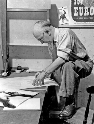 Leonard Beaumont, Artist.1947 | Photo: SALS PSs08798 & Illustrated London News