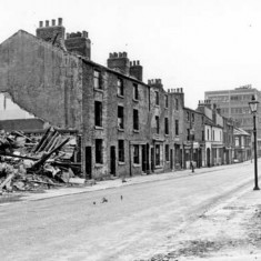 Demolition of buildings on Broomhall Street. 1965 | Photo: SALS PSs13860