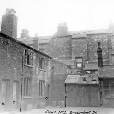Back to backs, Nos 6, 7, 8 and 9, Court No. 2, Broomhall Street. 1937 | Photo: SALS PSu02568