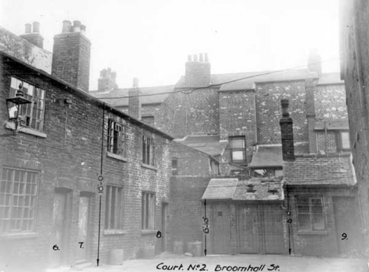 Back To Back Houses : Broomhall back to backs then and now housing roads