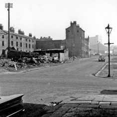 Bath Street at junction of Headford Street.1965   Photo: SALS PSs13397 & H. Ainscough