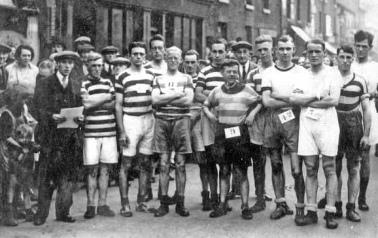 Broomhall Tavern Boxing Day Walk. 1931. Third from right (number 56) is Bill Coupe.  | Photo: SALS PSu04238