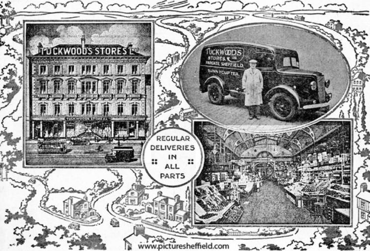 Tuckwood's Stores Ltd, Provision Merchants, Fargate Sheffield. | Photo: SALS PSs00850